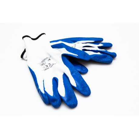 Latex Coated Gloves Blue Size 10