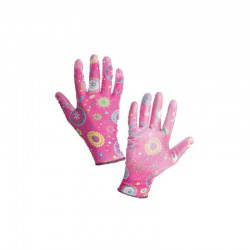 Latex Coated Gloves Pink Size 9