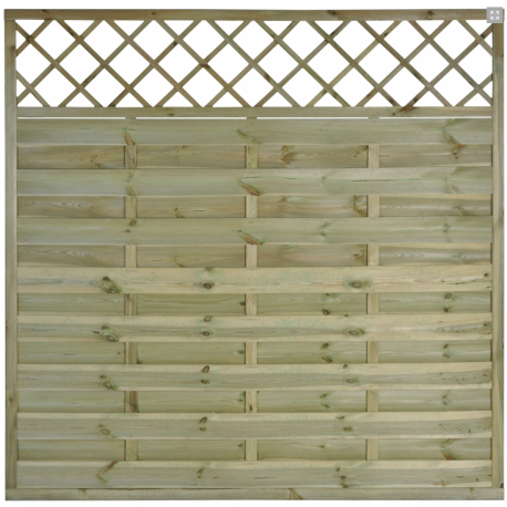 "Wooden fence Panel ""Adele"" approx. 6ft x 6ft Trellis"