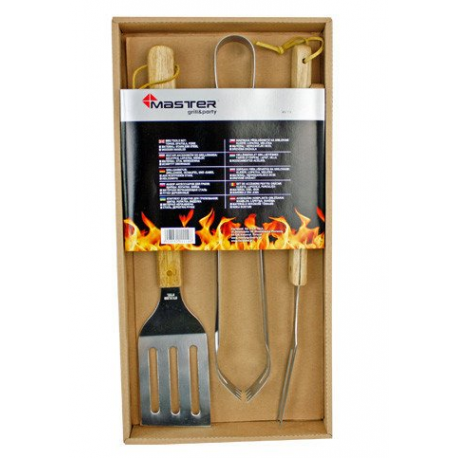 BBQ grilling set with wooden handles - MG110 Mastergrill