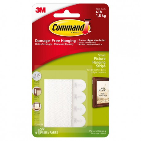 Command™ Small White Picture Hanging Strips 1.8kg