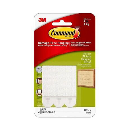 Command™ Medium Picture Hanging Strips 4kg
