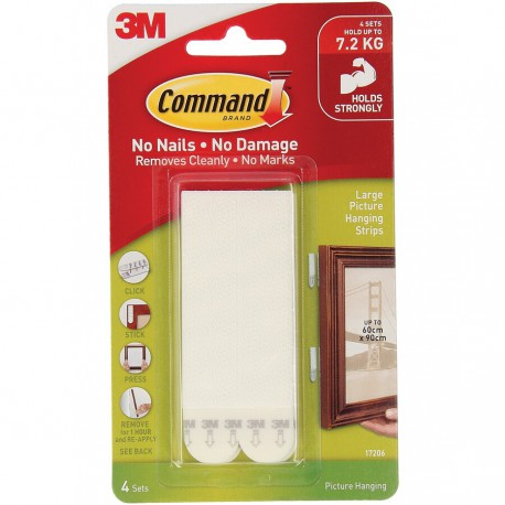 Command™ Large Picture Hanging Strips 7.2kg