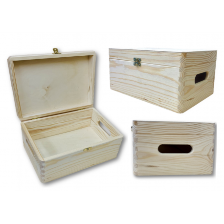 Handmade Wooden Box 30 x 20 cm with Lid & Clasp