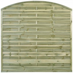 """Wooden fence Panel """"Anastasia"""" 6ft x 6ft Curved Heavy Duty"""